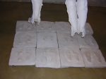 The product of the feet castings.